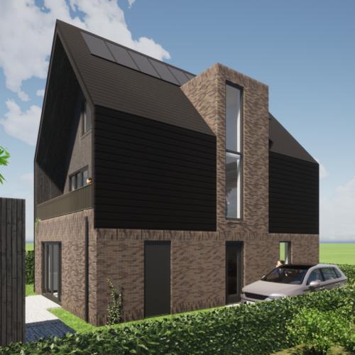 robin hurts architect woonhuis heerhugowaard de draai kavel G68 entree gevel